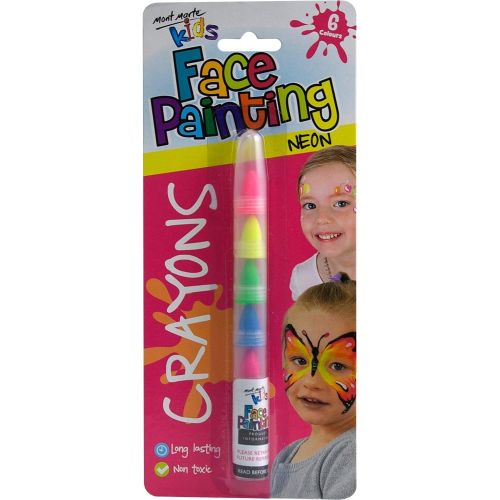 225548 Mont Marte Face Paint Crayons Neon